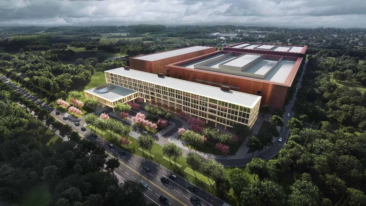 武汉重启!华为在武汉的首座研发基地继续建设——基地幕墙铝型材全部选用坚美铝材